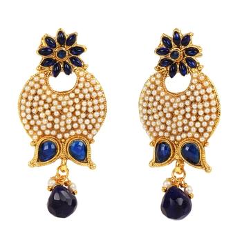 Blue cubic zirconia earrings
