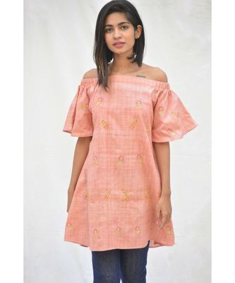 Khadi Cotton Cactus Off Shoulder Top