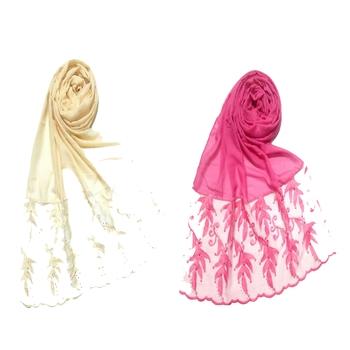 multicolor Designer Leaf Cotton Hijab ( set of 2 hijab)