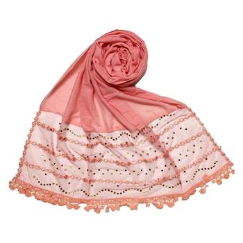 Pink Designer Golden Beat's Studed Cotton Stole