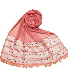 Pink Designer Golden Beat's Studed Cotton Stole