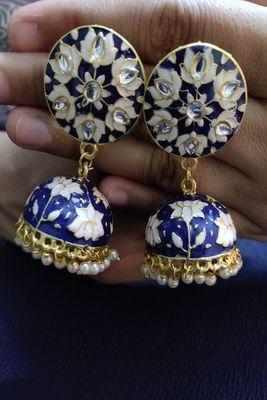 Blue Jhumkas