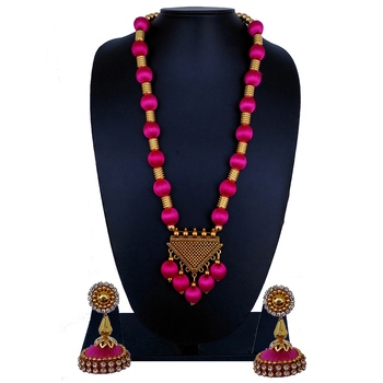 Pink statement-jewellery