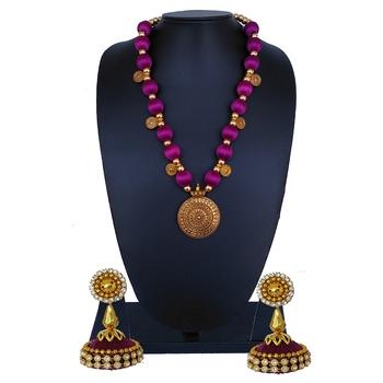 Purple statement-jewellery