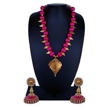 Pink statement-jewellery