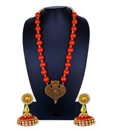 Orange statement-jewellery