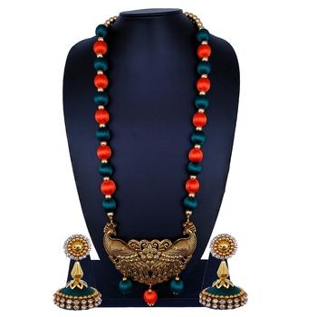 Orange statement-jewellery