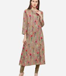 Multi Rayon Printed Women's Stitched Maxi Dress