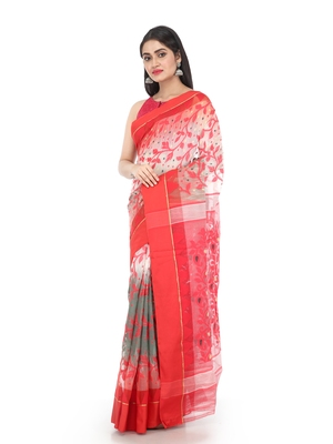 Multicolor Women Soft Dhakai Jamdani Saree