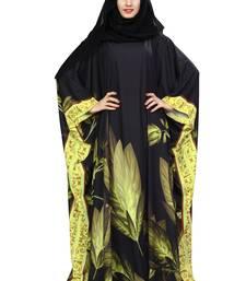 Multicolor printed polyester abaya