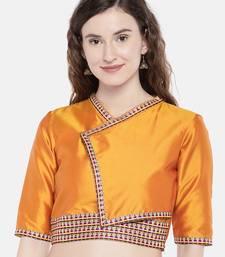 orange non padded taffeta Kimono blouse