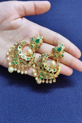 Green emerald  earrings