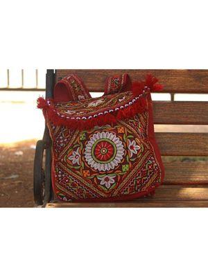 Multicolor Cotton  Embroidery Handbag