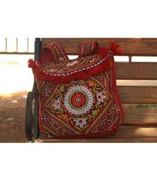 Multicolor Cotton  Embroidery Handbag