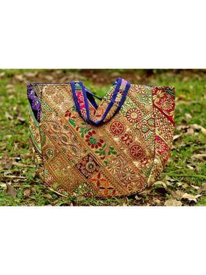MultiColor cotton Rajasthani   HandBag