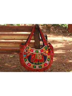 Red Cotton Rajasthani Bag