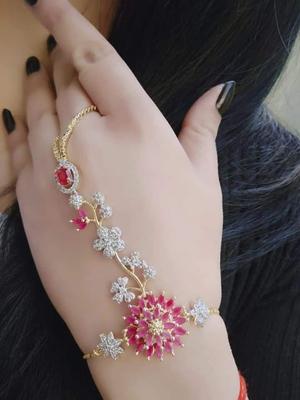 Gold crystal bracelets
