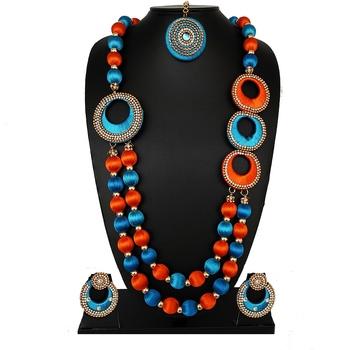 Blue statement-jewellery