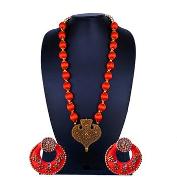 Orange indian-traditional-jewellery