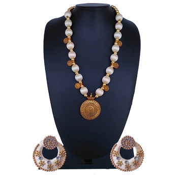 White Indian Traditional Jewellery