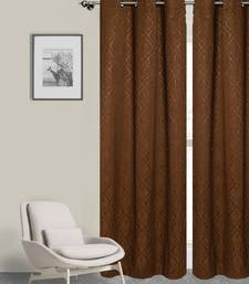 ROSARA HOME Pack of Single Eyelet Polycotton Curtain