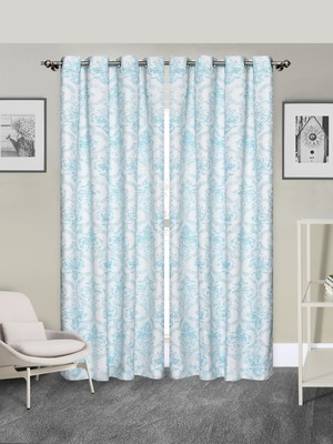 ROSARA HOME Pack of 2 Eyelet Polyester Curtains