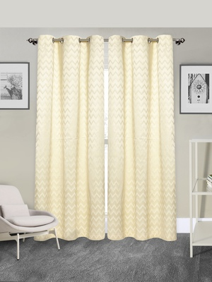 ROSARA HOME Pack of 2 Eyelet Polycotton Curtains