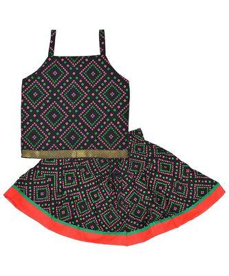 Bhandhej Block Print Cotton Baby Girls skirt & Top