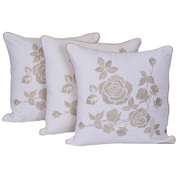 Reme Embroidered Multicolor Velvet Cushion Cover