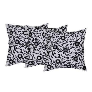Reme  Embroidered Multicolor Cotton Square Decorative Cushion Cover Pillow Case