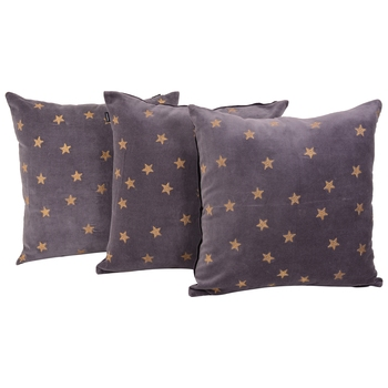 Reme Embroidered Grey Velvet Cushion Cover Pillow Case
