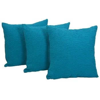 Reme Self Design Blue Cushion Cover Pillow Case