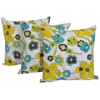 Reme 3D Printed Multicolor Cotton Square Decorative Cushion Cover