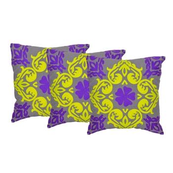Reme Embroidered Multicolor Cotton Square Decorative Cushion Cover