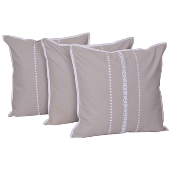 Reme Embroidered Multicolor Cotton Square Decorative Cushion Cover