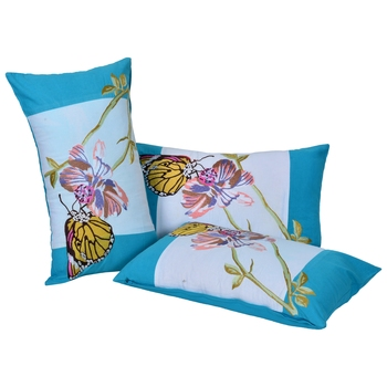 Reme Embroidered Cotton Rectangle Shape Cushion Cover