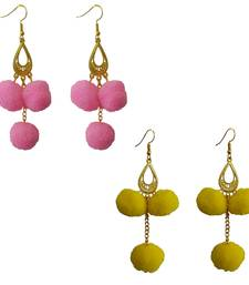 Pink pom-pom-earrings
