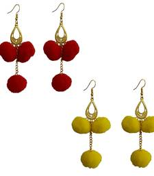 Red pom-pom-earrings