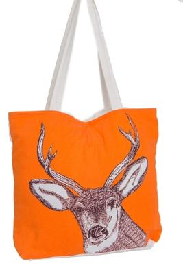 Reme Women Embroidered Orange Shoulder Bag