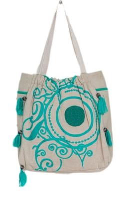 Reme Women Embroidered Tote  Shoulder Bag
