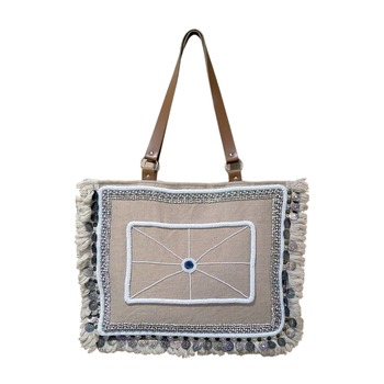 Reme Jute Embroidered Hand Bag For Women