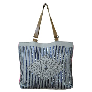 Reme Jute Embellished HandBag For Women