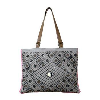Reme Jute Embroidered MultiPurpose Shoulder Bag