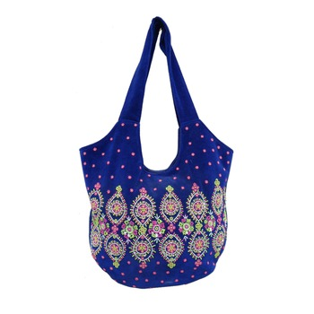 Reme Velvet Blue Party Bag For Women