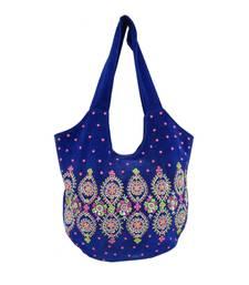 Reme Velvet Blue Party Bag For Women