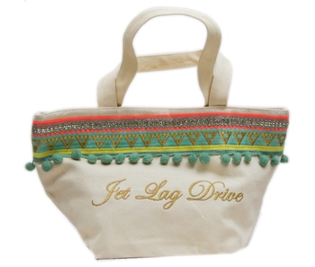 Reme Green and White Vanity Bag For Women