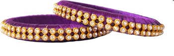 Purple pearl bangles-and-bracelets