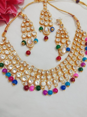 Gold crystal jewellery