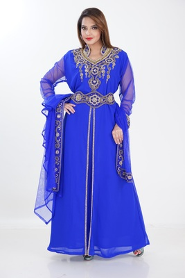 Dubai Kaftan Women Dress Long Gown Farasha Morocco Jalabiya Wear