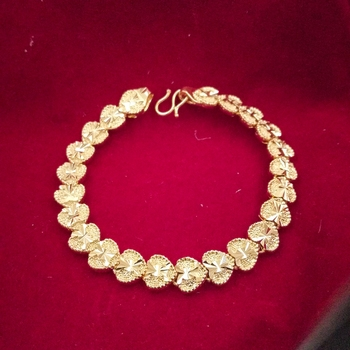 Heavy Mens Bracelet Gold-Plated Link Design Real Gold Looking For Boys